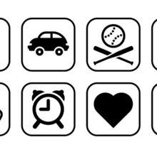 Multifunctional Grandpa (16 Icons) Sticker