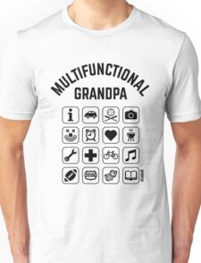 Multifunctional Grandpa (16 Icons) Unisex T-Shirt