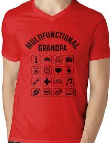 Multifunctional Grandpa (16 Icons) Mens V-Neck T-Shirt