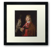 Portrait of a Boy with a Falcon,  Wallerant Vaillant (Flemish, Lille ) Framed Print