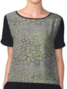Crazy paving at the castle Women's Chiffon Top