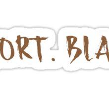 short. black (coffee order) Sticker