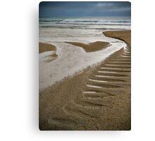 Moody Pentewan Beach,Cornwal Canvas Print