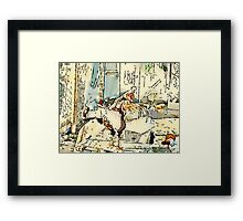 King Of The Chook Yard Framed Print