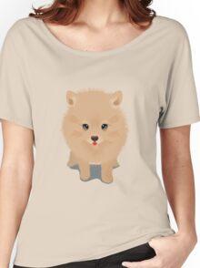 Pembroke welsh corgi dog showing tongue Women's Relaxed Fit T-Shirt