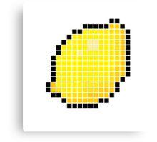 8 bit pixel lemon Canvas Print
