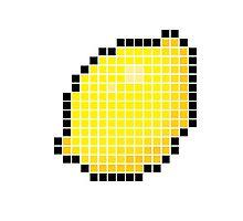 8 bit pixel lemon Photographic Print