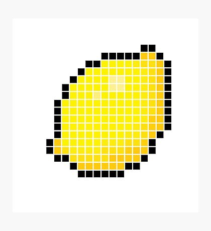 8 bit pixel lemon Photographic Print