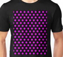Polkadots Black and Pink Unisex T-Shirt