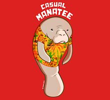 Casual Manatee Womens Fitted T-Shirt