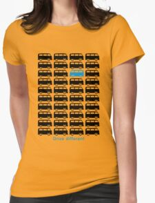Drive different - Bus (black) Womens Fitted T-Shirt