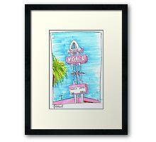 Motel Monterey Framed Print