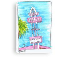 Motel Monterey Canvas Print