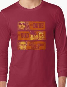 The Dude, the Bud and the Kinda Funny Lookin' Long Sleeve T-Shirt