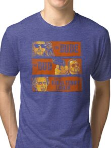 The Dude, the Bud and the Kinda Funny Lookin' Tri-blend T-Shirt
