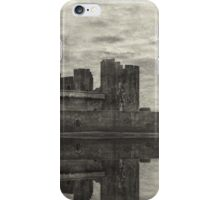 Reflections Of Caerphilly Castle   iPhone Case/Skin