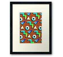 1980s Orange Print Framed Print