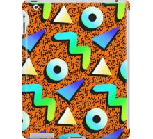 1980s Orange Print iPad Case/Skin