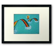 Fanciful Fluff and Feathers Framed Print