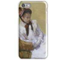 Portrait of the Artist Artist Mary Cassatt iPhone Case/Skin