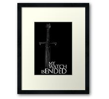 Game of Thrones - The end Framed Print