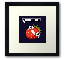 Crying Strawberry: Don't Eat Me! Framed Print