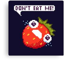 Crying Strawberry: Don't Eat Me! Canvas Print