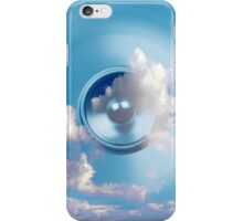 Spinning music speaker and blue sky iPhone Case/Skin