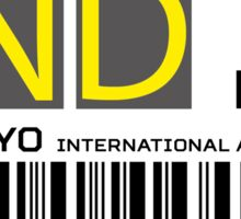 Destination Tokyo Haneda Airport Sticker