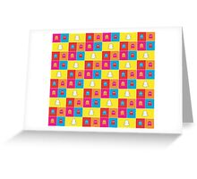 Ghosts of Past & Present - Tech Pattern Greeting Card