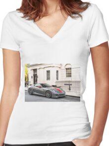 Ferrari 599 GTO Women's Fitted V-Neck T-Shirt