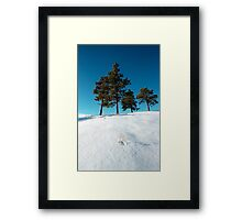 On top of the hill Framed Print