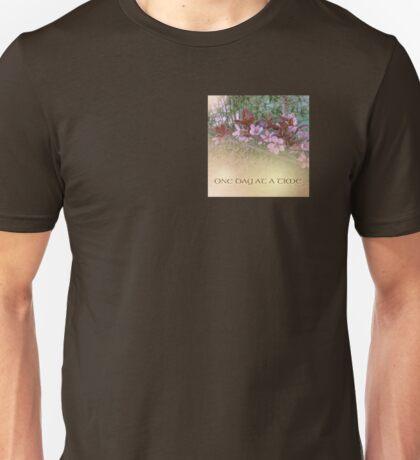 ODAT Plum Blossoms on Green Unisex T-Shirt