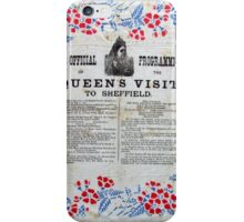 Official programme Queen's Victoria's visit to Sheffield, 1897 iPhone Case/Skin