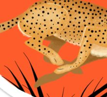 Cheetah Run Sticker
