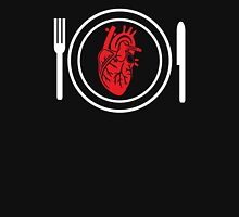 my heart on a plate Womens Fitted T-Shirt