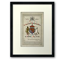 Programme for the visit of Queen Victoria to Sheffield, 1897 Framed Print