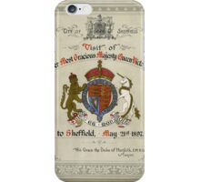 Programme for the visit of Queen Victoria to Sheffield, 1897 iPhone Case/Skin