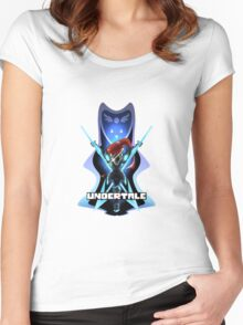 Undyne Battle Stance Merch Women's Fitted Scoop T-Shirt