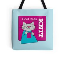 Cool Cats Knit Pink Tote Bag