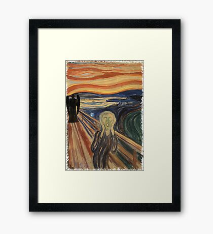 Doctor Who - Munch v2 Framed Print