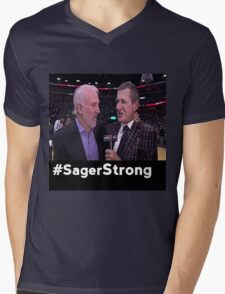 Stay Strong Sager Mens V-Neck T-Shirt