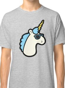 Unicorns Are Cool Pattern - Blue Classic T-Shirt