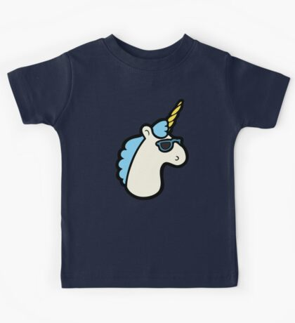 Unicorns Are Cool Pattern - Blue Kids Clothes
