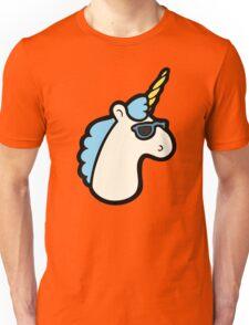 Unicorns Are Cool Pattern - Blue Unisex T-Shirt