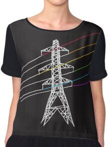 The Dark Side of Electricity Chiffon Top