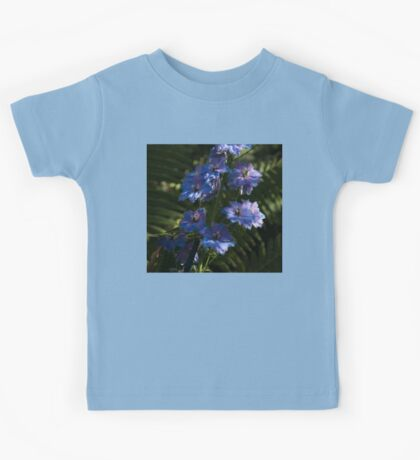 Larkspurs and Ferns - a Lush Summer Garden Kids Tee