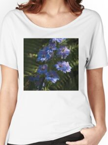 Larkspurs and Ferns - a Lush Summer Garden Women's Relaxed Fit T-Shirt