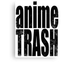 Anime Trash (BLACK) Canvas Print