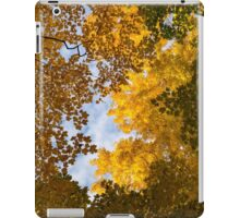 Golden Autumn Canopy - a Window to the Sky Vertical iPad Case/Skin